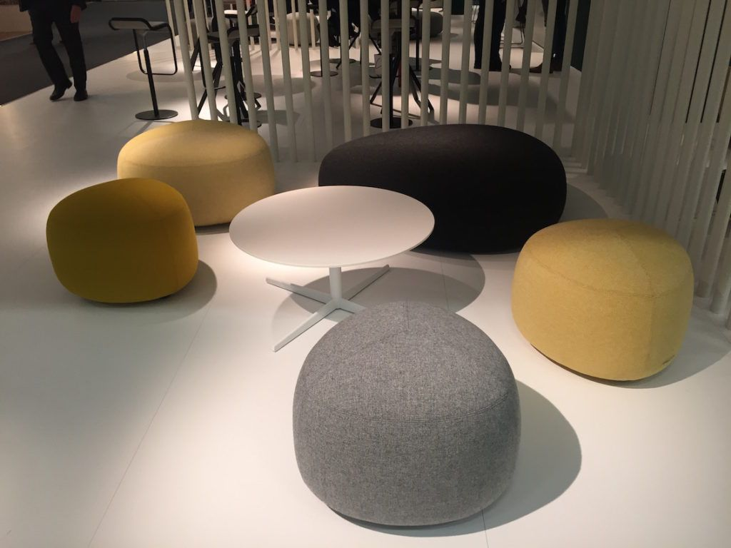 Collection Of Poufs That Was Inspired From Stones