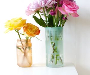 How To Etch Glass And Create Cool Vases for Flower Puns