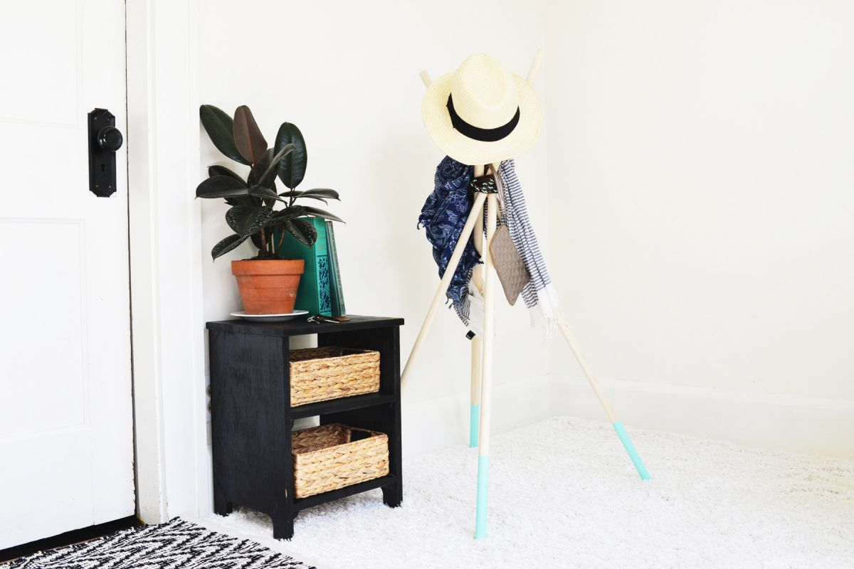 Elegant Colorful Diy Coat Rack