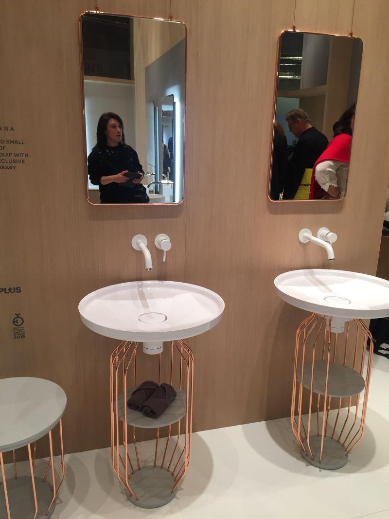 Copper Wire bathroom vanity - minimalist style