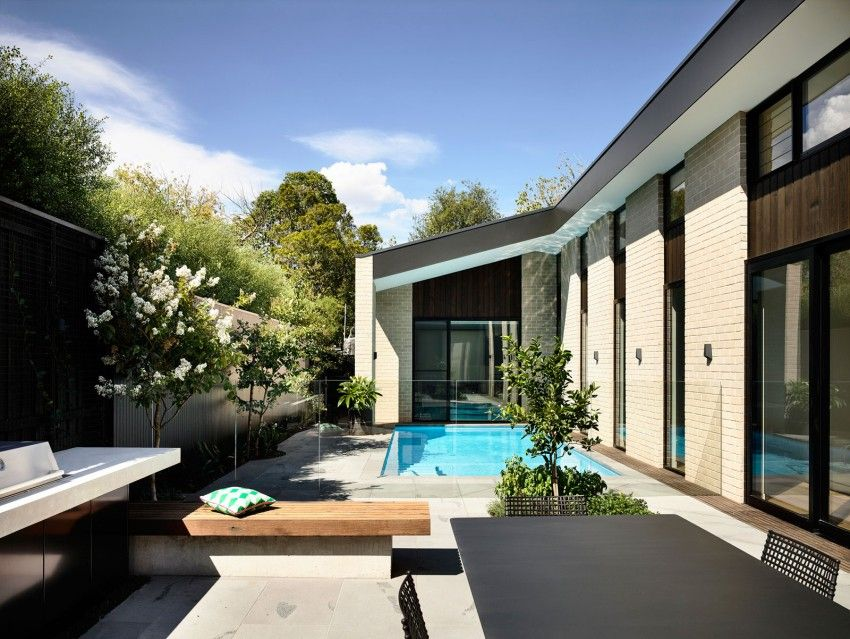 Custom designed home in Australia with pool
