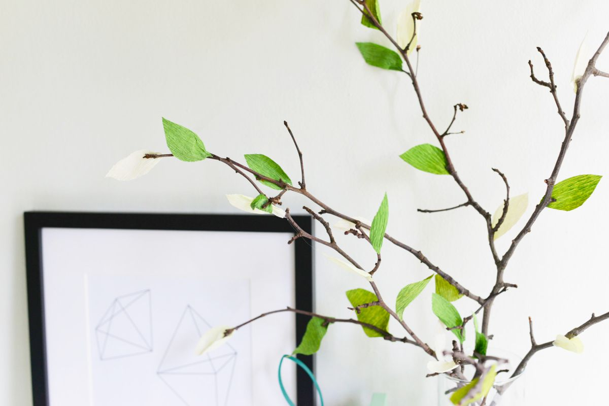 DIY Crepe Paper Leaf Branches Fresh