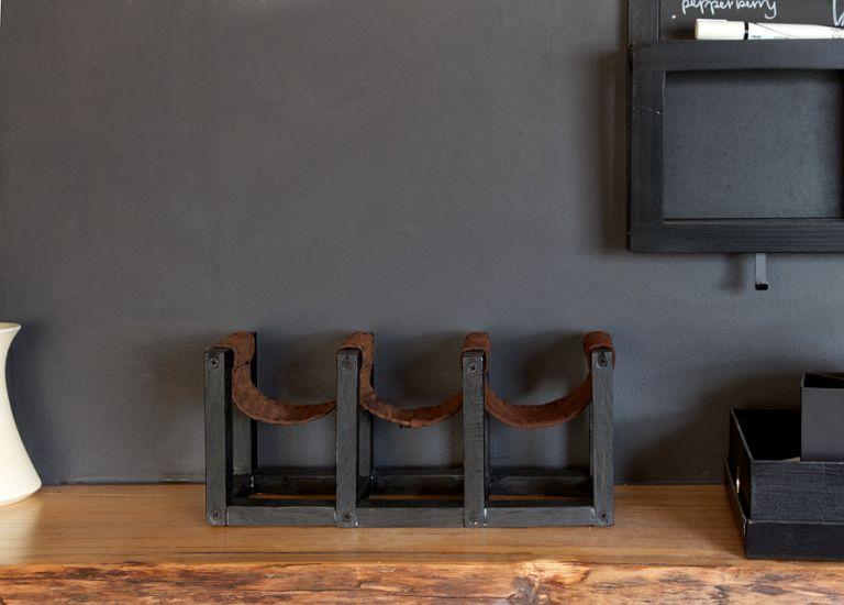 DIY Leather Sling Wine Rack Craft