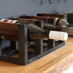 DIY Leather Sling Countertop Wine Rack