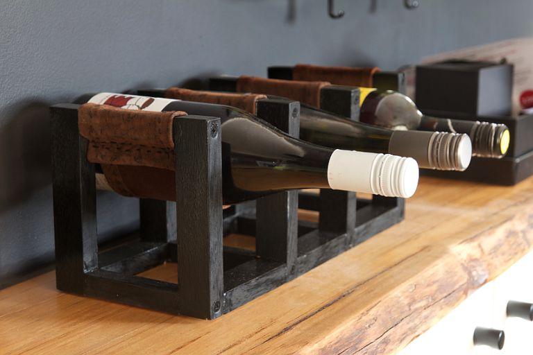DIY Leather Sling Wine Rack Wine