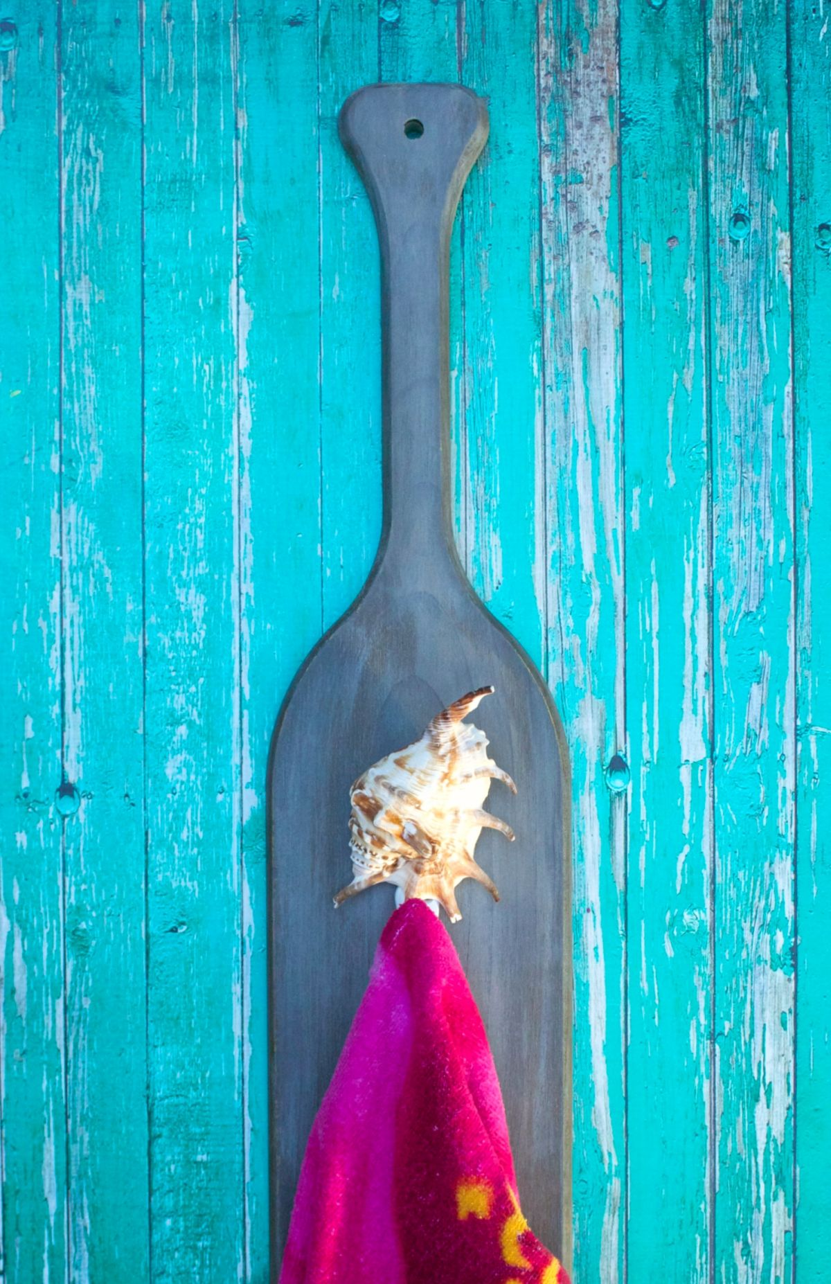 DIY Paddle Towel Hook Home Decor - Handle