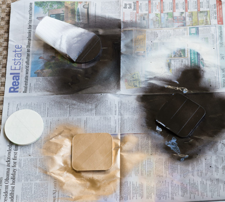 DIY Painted Concrete Coasters Paint