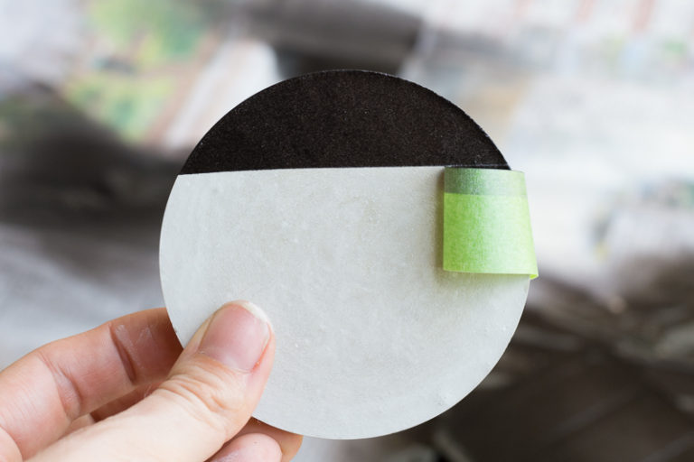 DIY Painted Concrete Coasters special coat