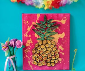 DIY Pineapple Wall Art