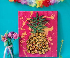 DIY Pineapple Wall Art