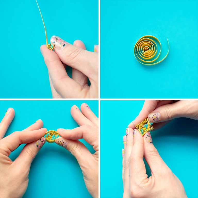 DIY Pineapple wall art - paper rolling