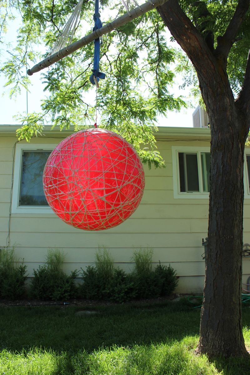 DIY String Globe Light - hang it