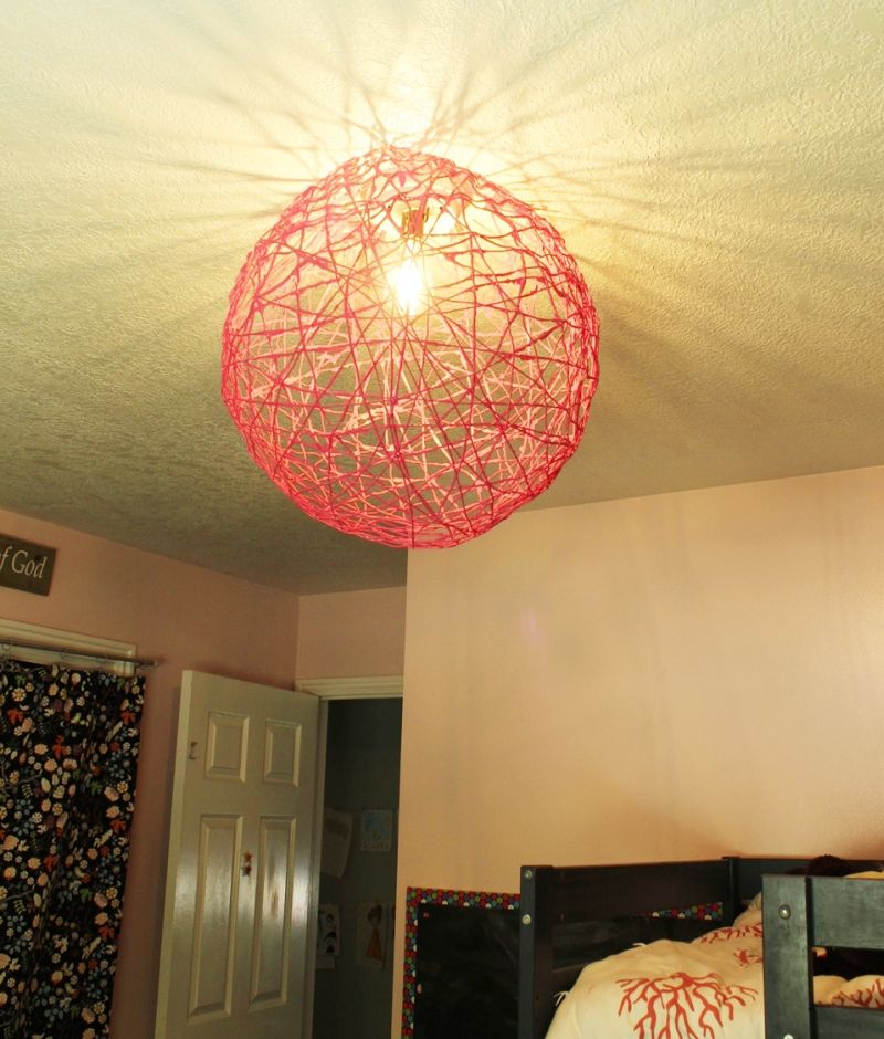 DIY String Globe Light
