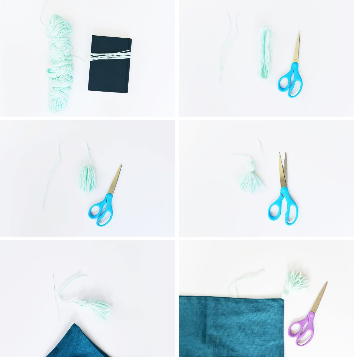 DIY Tassel Pillow Steps