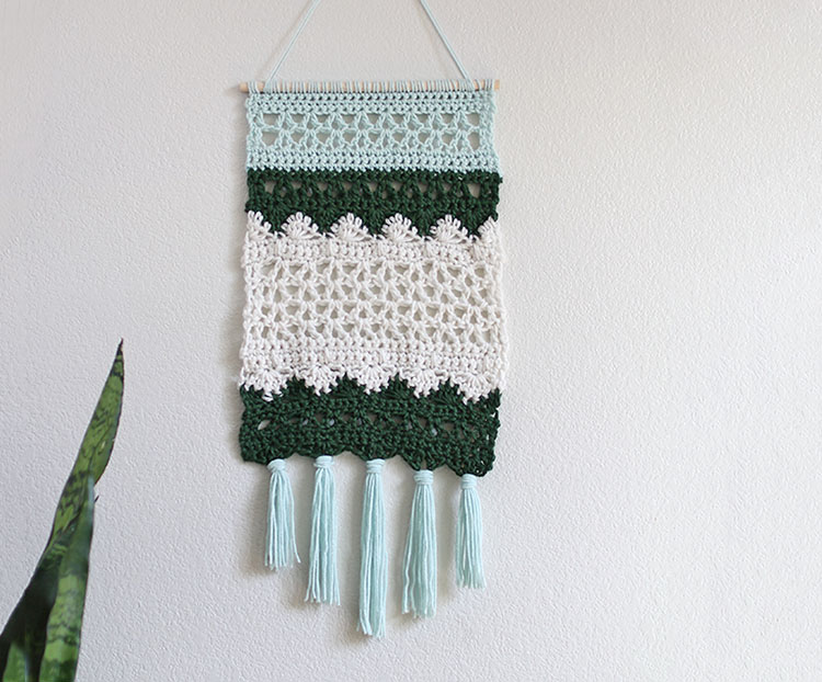 DIY crotchet wall hanging