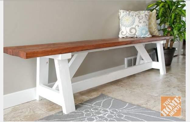DIY farm bench