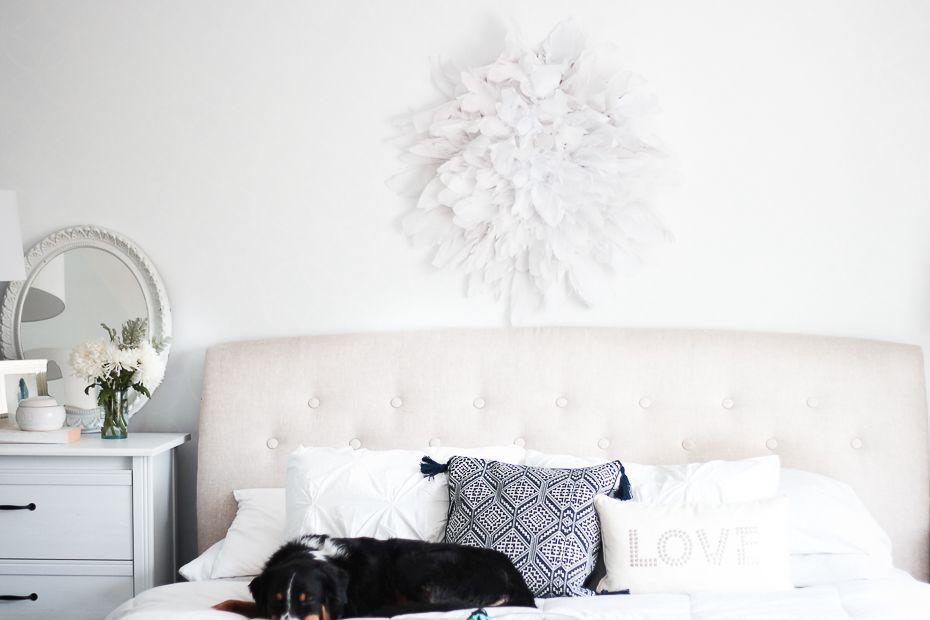 & DIY Wall Decor For a Serene Bedroom