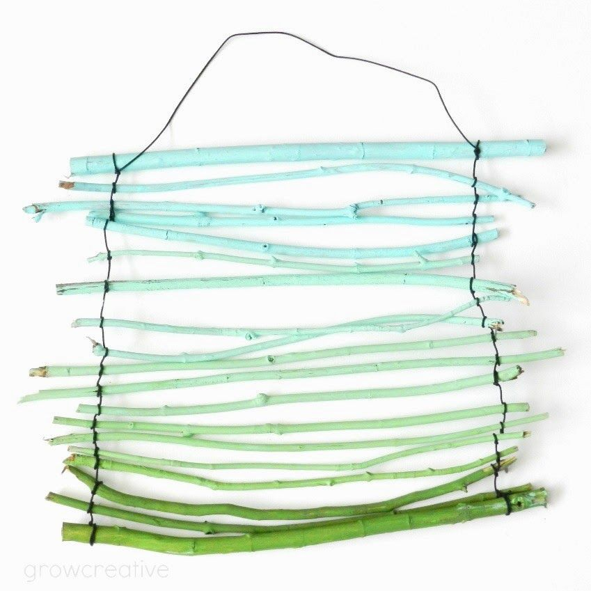DIY ombre twig art