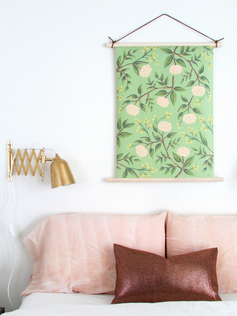 DIY wallpaper hanging