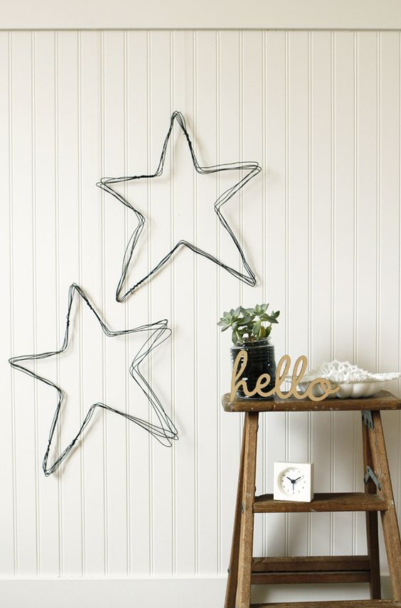 DIY wire star