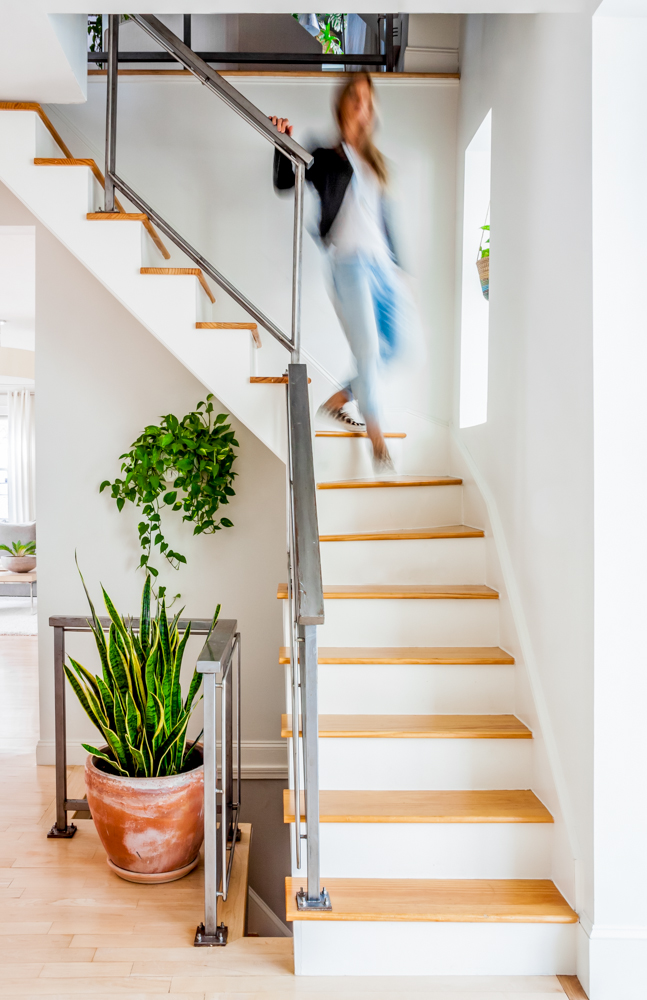 Decorate the space understairs with snake plants