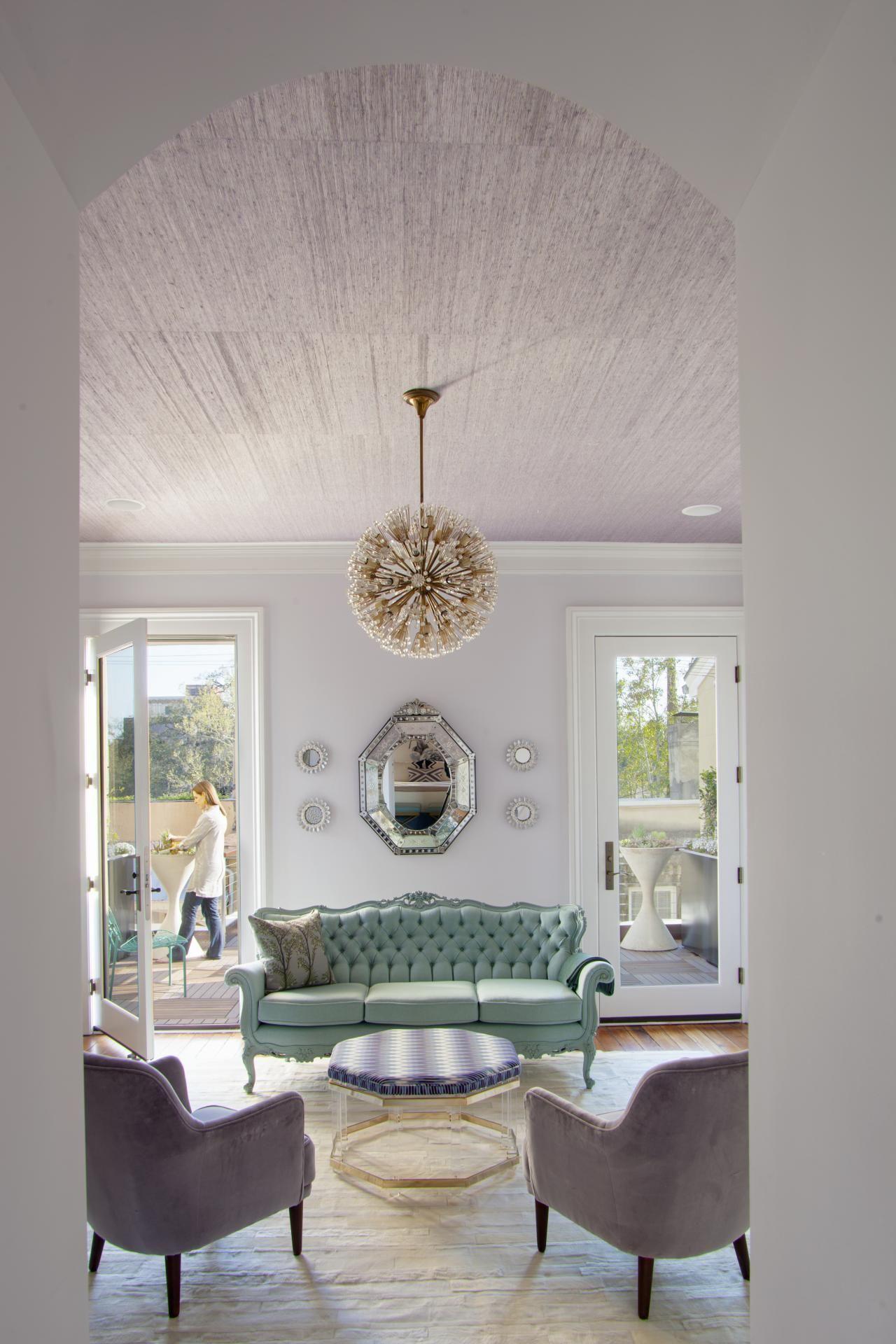 Design studio with levender color
