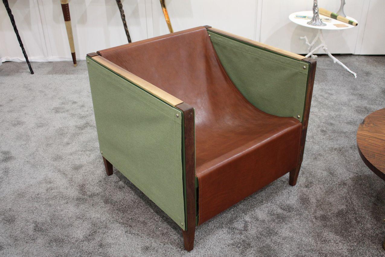 Eath tones armchair design