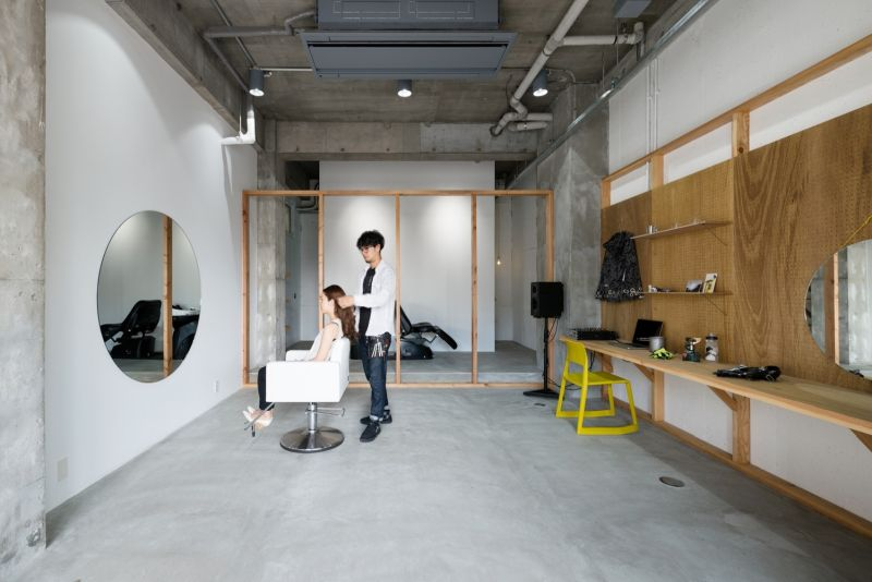 Equip Hair Salon with concrete floor