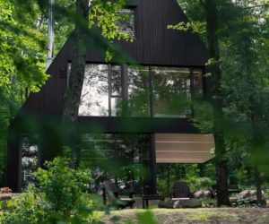 Forest Cabin With A Playful Geometry And Layout