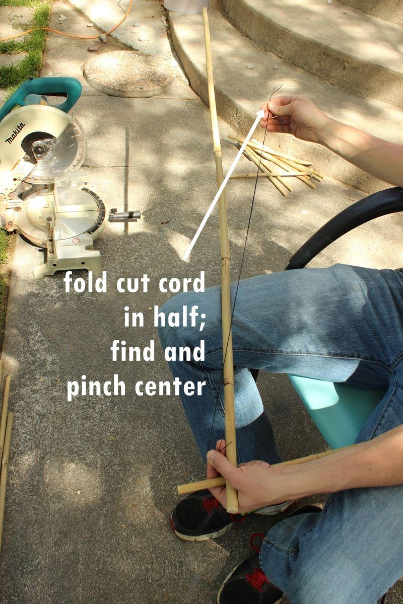 Fold the cord in half
