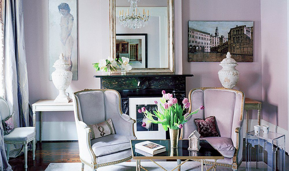 40 lavender rooms that will sweep you right off your feet Victorian living room decorating ideas with pics