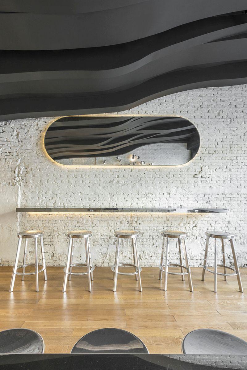 Fumi cafe framed wall mirror