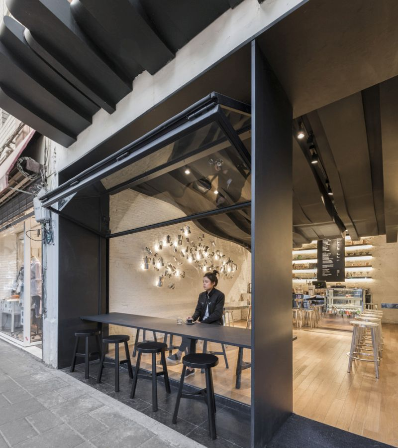 Indoor Bar: The Café Aroma Translated Into A Sculptural Design In Shanghai