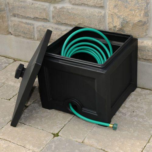 Garden hose bin
