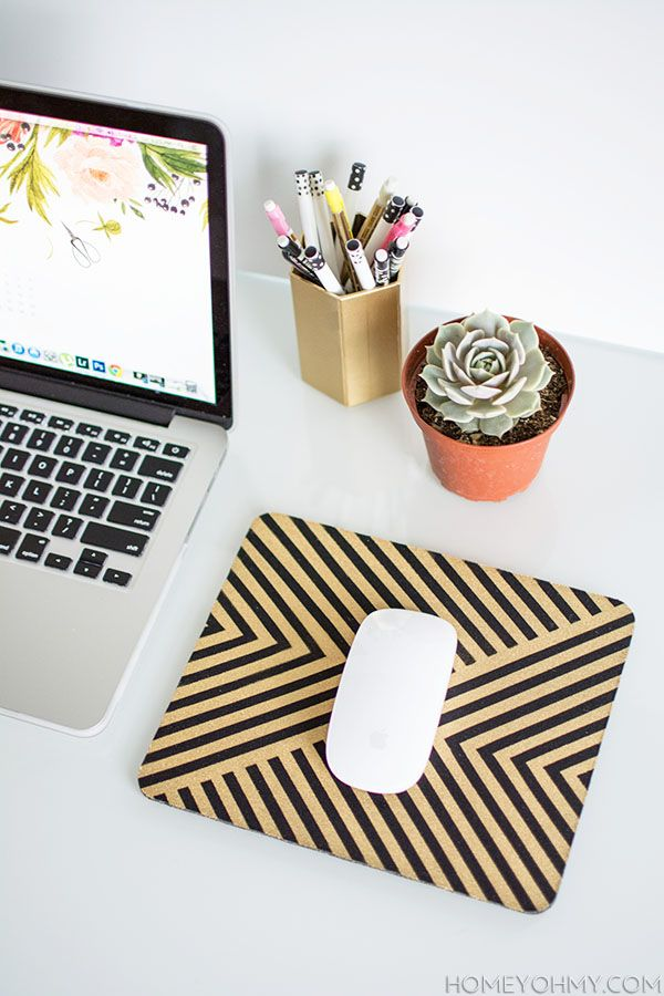 Gold Mouse Pad You Can Diy