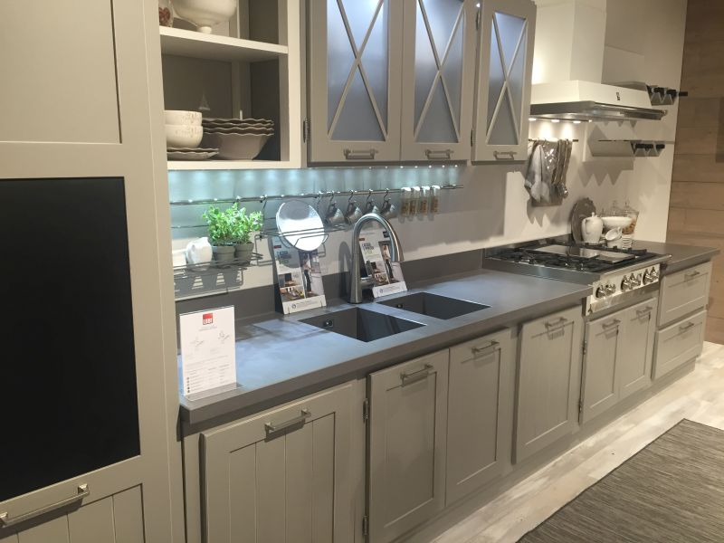 Gray traditional kitchen with led under cabinet lighting