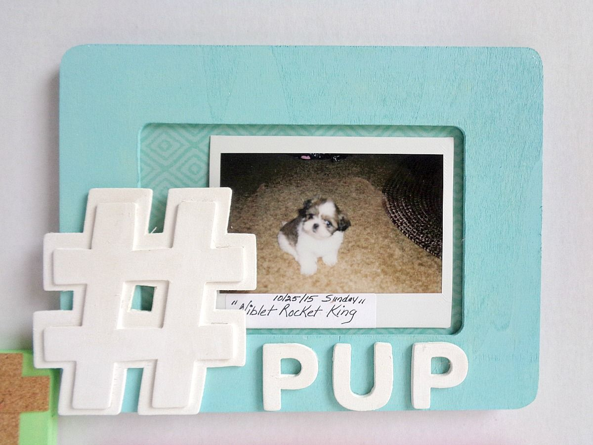 Hashtag Frame in turquoise