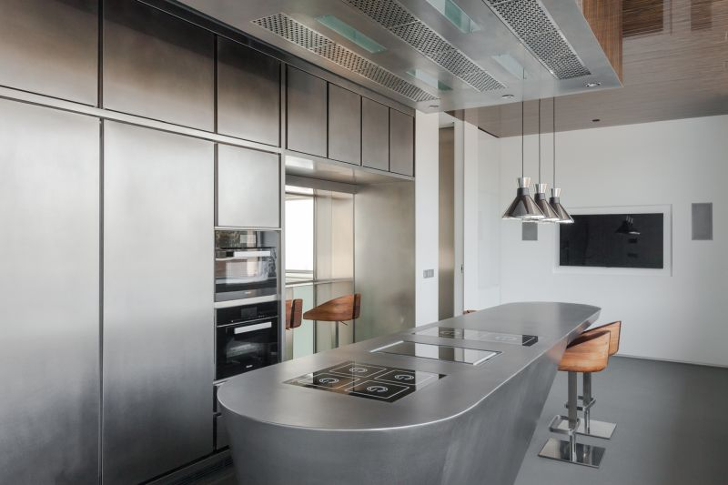 House H in Madrid kitchen island
