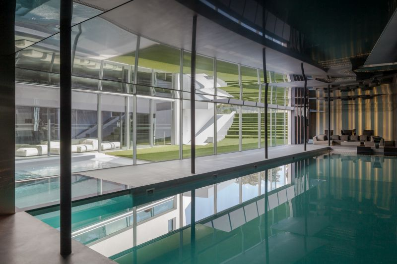 House H in Madrid pool indoor section