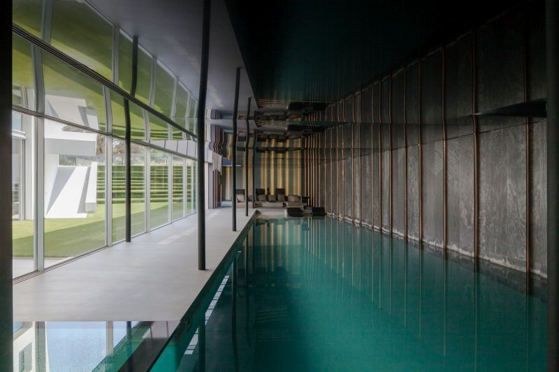 House H in Madrid pool interior