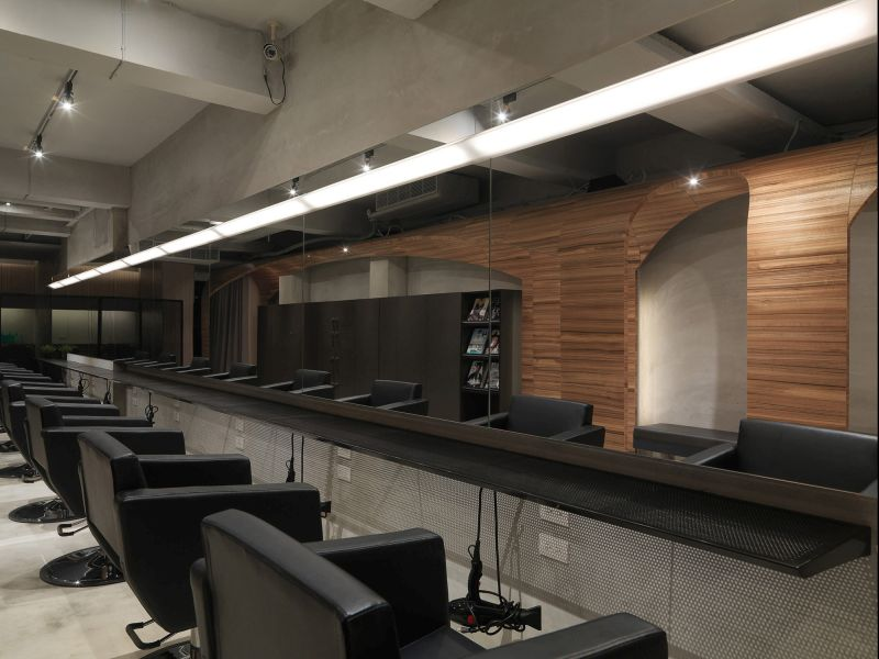 How Fun Hair Salon Design by JC Architecture wire counter