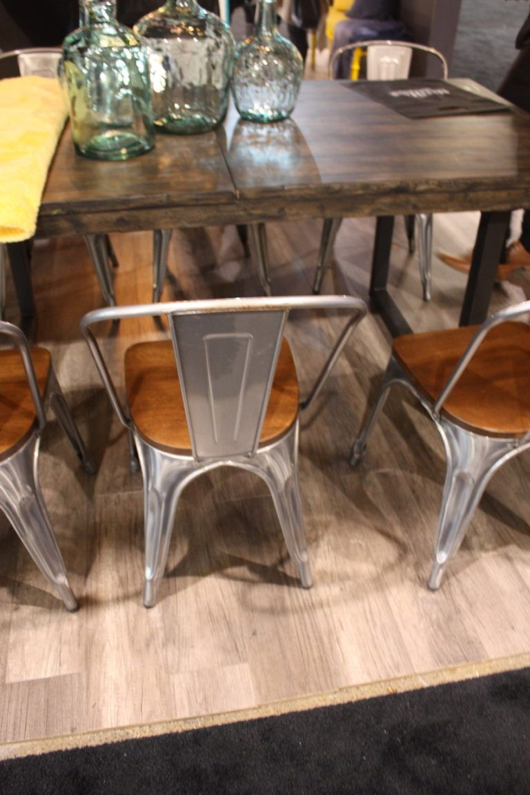 """Combined with a substantial table and casual accessories, the chairs bring a slightly modern, rustic feel without feeling too """"country."""""""
