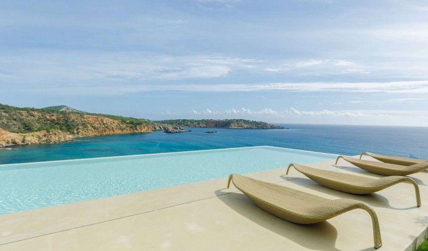 Infinity pool on Ibiza spain