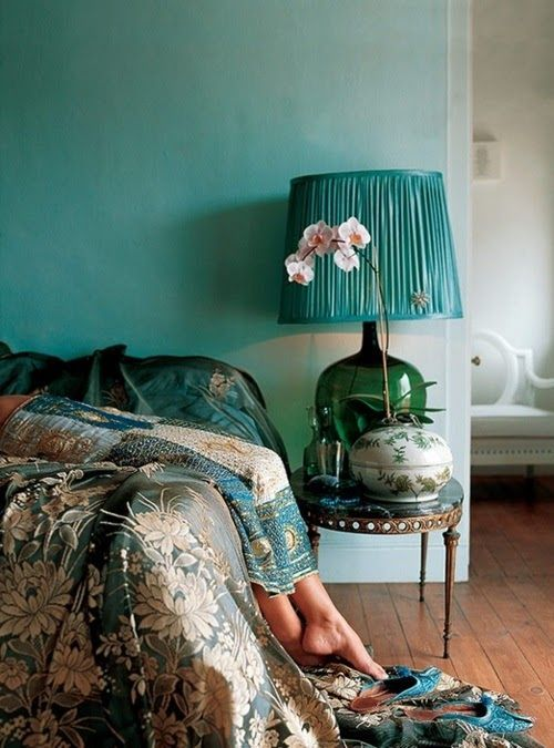 Jeweled green bedroom
