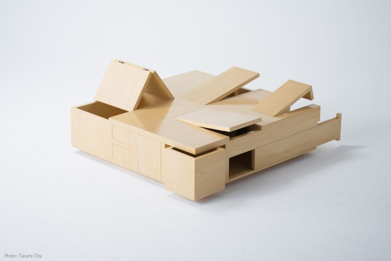 Kai coffee table designed for storage