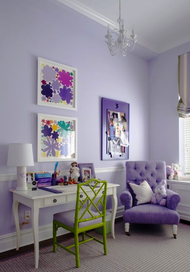 Lavender room decor