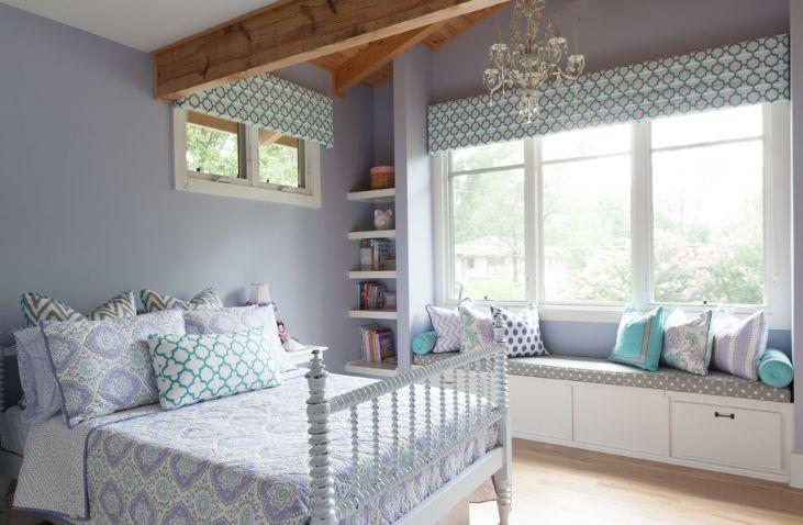 Levender prints for bedroom - window seating