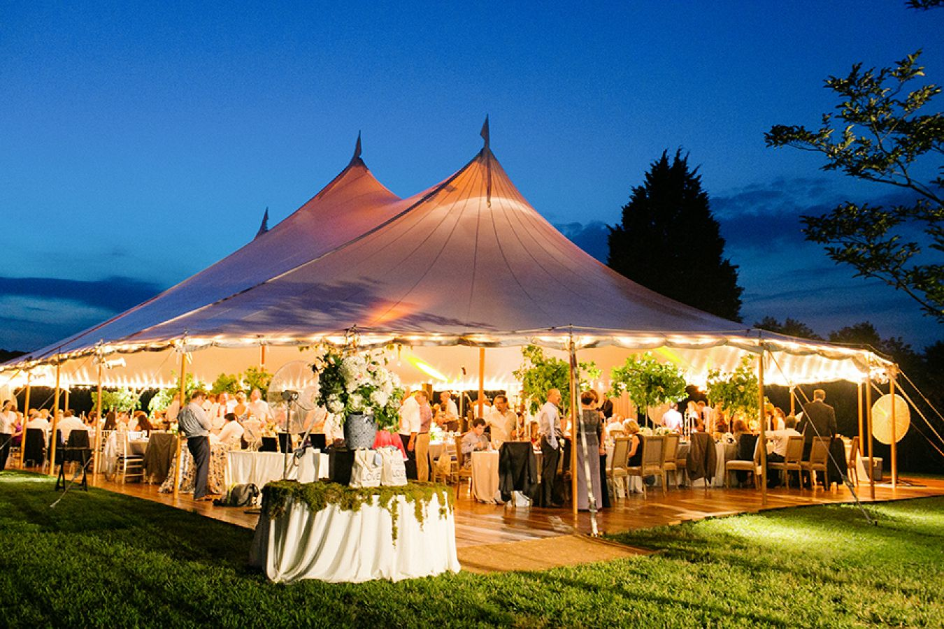 Lighting is important for a wedding tent
