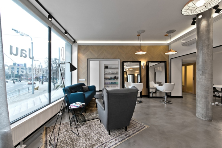 Lithuania beauty salon with concrete floors