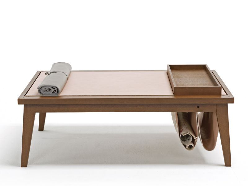 Low rectangular coffee table in oak